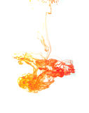 Ink in water. On a white background Stock Images