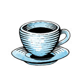 Ink and Watercolor Sketch of a Coffee Cup Royalty Free Stock Photography