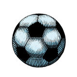Ink and Watercolor Sketch of a Soccer Ball Royalty Free Stock Photography
