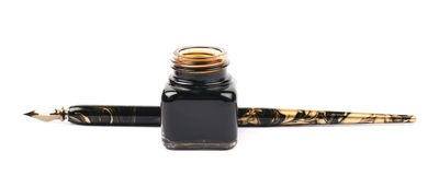 Ink writing tools composition isolated Royalty Free Stock Photo