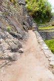 Inka ściana w Mach Picchu, Peru, Ameryka Południowa. Przykład poligonalny kamieniarstwo. Sławny 32 kątów kamień Obraz Royalty Free