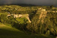 Inka świątynia Ingapirca zdjęcia royalty free