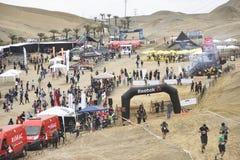 Inka Challenge, um obstáculo extremo reawakened em uma praia ao sul de Lima fotos de stock royalty free