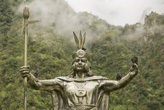 Inka-Gott durch Machu Picchu Lizenzfreies Stockfoto