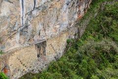 Inka most blisko Machu Picchu w Peru Obrazy Royalty Free