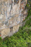 Inka most blisko Machu Picchu w Peru Fotografia Royalty Free
