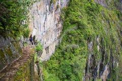 Inka most blisko Machu Picchu w Peru Zdjęcia Royalty Free