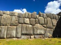 Inka obstructie voert dichtbij Cusco Stock Foto
