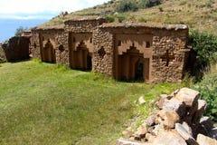 Inka ruiny Isla Del Zol Boliva fotografia stock