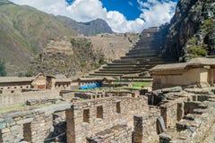 Inka ruiny w Ollantaytambo fotografia royalty free
