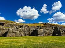 Inka stonework near Cusco Royalty Free Stock Images
