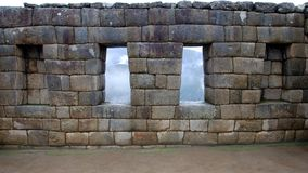Inka Wall at Manchu Picchu Stock Photo