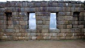 Inka Wand bei Manchu Picchu stockfoto