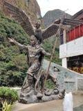 Inkadreiheit nahe Machu Picchu stockbild