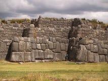 Inkafestung von Sacsayhuaman stockfoto