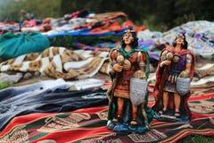 Inkakrieger Modell in Cusco Peru Stockfoto
