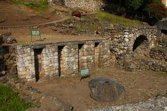 Inkaruinen in Cuenca stockbilder