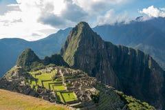 Inkaruinen von Machu Picchu lizenzfreie stockbilder