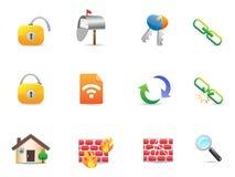inkasowa kolorowa ikon internetów sieć Zdjęcie Stock