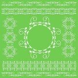 Inkasowa koronkowa rama elements2 Obrazy Royalty Free