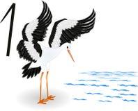 Inkasowa liczba dla dzieciaków zwierząt ptaków Obraz Stock
