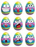 Inkasowa maskotka malujący emoticons Easter jajko odizolowywający Obraz Stock
