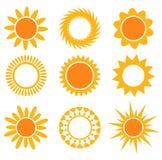 inkasowe ikon ilustracje nad słońc wektoru biel ilustracja wektor