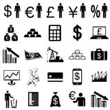 Inkasowe płaskie ikony. Finansowi symbole. Wektor ilustracja wektor