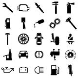 Inkasowe płaskie ikony. Samochodowi symbole. Wektor Obraz Stock