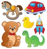 Inkasowe różnorodne zabawki Obraz Stock