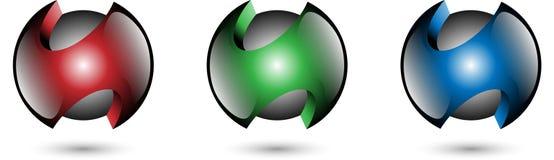 Inkasowego koloru Glansowana piłka Ilustracja Wektor