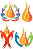 Inkasowi colourful płomieni logowie Zdjęcie Stock