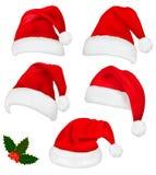 inkasowi kapelusze uświęcony czerwony Santa ilustracja wektor