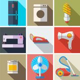 Inkasowi nowożytni płascy ikony gospodarstwa domowego urządzenia ilustracji