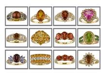 inkasowi pierścionki Obraz Royalty Free