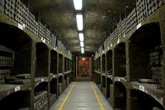 Inkasowi wina w Massandra wytwórnii win, Yalta, Crimea Obrazy Royalty Free