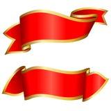 inkasowy czerwony faborek Zdjęcia Royalty Free