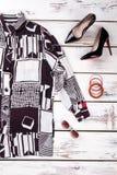 inkasowy kolaż kobiety ` s odzież zdjęcie stock