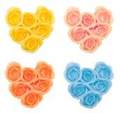 inkasowy kwiatu serc mydło Zdjęcia Royalty Free