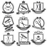 Inkasowy loga zakład fryzjerski Obrazy Royalty Free