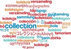 Inkasowy multilanguage wordcloud tła pojęcie Zdjęcia Royalty Free