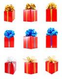 inkasowy prezent przedstawia czerwień zawijającą Obrazy Stock
