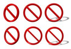 inkasowy prohibici znaka ruch drogowy typ Zdjęcia Stock