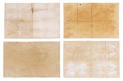 Inkasowy stary papier odizolowywający na białym tle Fotografia Royalty Free