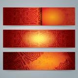 Inkasowy sztandaru projekt, Afrykański sztuki tło Obraz Royalty Free