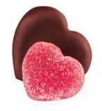 Inkasowy ustawiający kształtów serc cukierek Obraz Stock