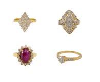 inkasowy złocisty pierścionek Fotografia Royalty Free