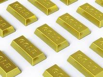 inkasowy złota tutaj pchnięcie Fotografia Royalty Free