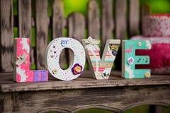 9 inkasowych eleganckich listów kochają wzoru temat romansowego bezszwowego Fotografia Royalty Free