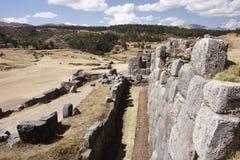 Inkasteinwand in Cuzco, Peru lizenzfreies stockfoto